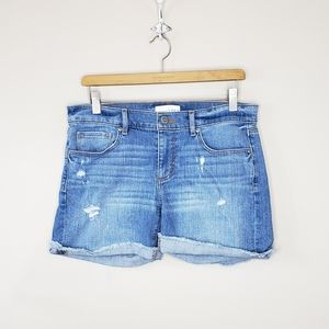 LOFT | Distressed Jean Shorts